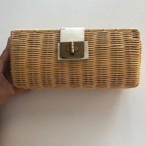 J. Crew Straw Clutch Handbag